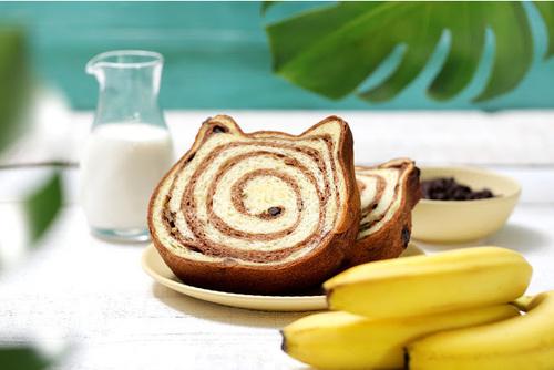 ねこねこ食パン ~トロピカルチョコバナナ~