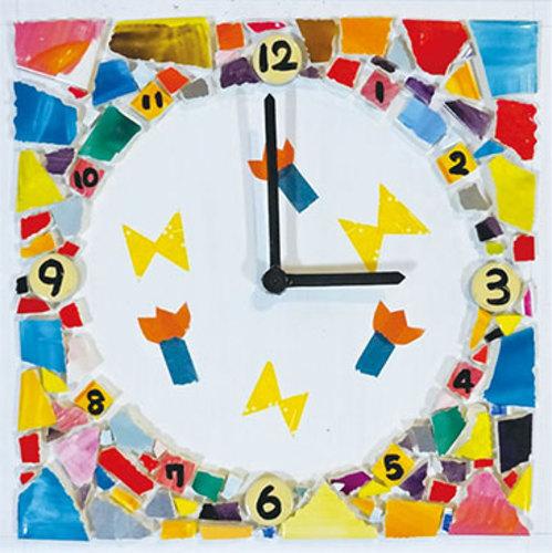 モザイクアート時計を作ろう!